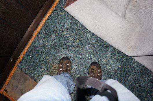 water around my feet in mom's basement