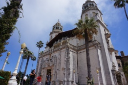 Hearst Castle, from the front