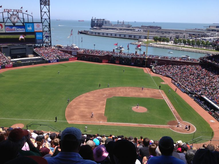 AT&T Park. What a setting!