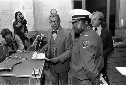 Chuck, at a news conference in 1981 after he negotiated the end to a prison riot at Graterford Penitentiary, outside Philadelphia.