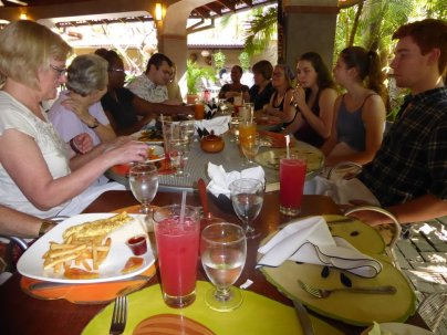 We ate very well in Port-au-Prince. This post-church brunch had the best fruit juice ever (watermelon, black cherry, yum).
