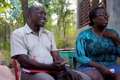 The former head of MPP Jean-Baptiste Chabbonnes, who spoke to us for a few hours on our last day. We walked away impressed by his charisma and his commitment to improve the lives of peasants in Haiti.