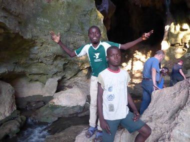 My guides to the cave atop Bassin Zim. Each was paid a dollar, and there was fierce competition for our business.