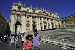 St. Peter's, after we visited the Vatican.