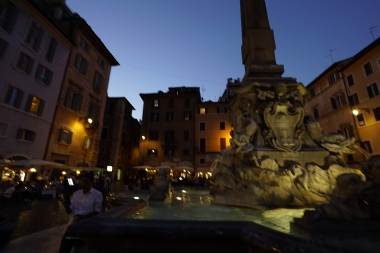 Fountain in the square near the Pantheon