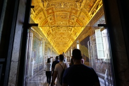 The hallway to the Sistine Chapel.