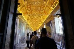 The hallway to the Sistine Chapel.