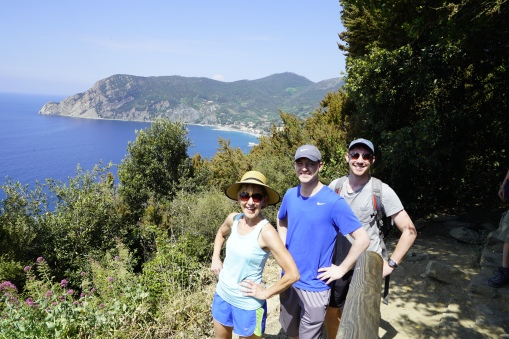 The hike to Monterossa, beautiful.