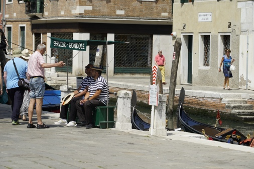 Gondola drivers need a break too.