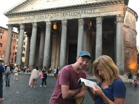 Kelly being goofy at the Pantheon.